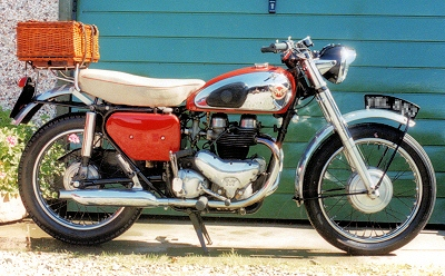 1958 Matchless in red Two Pack paint & black frame